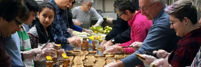 Hunger Van at Arab American Family Services.
